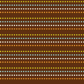 Dippy Dot - Polka Dot Stripe Brown