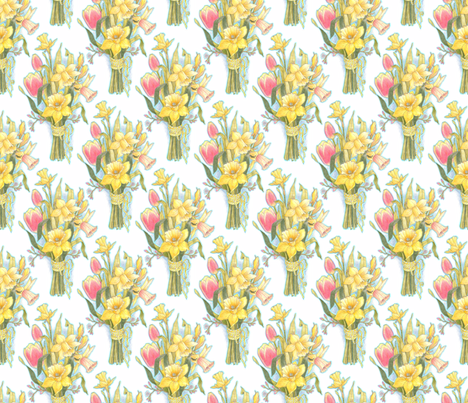 daffodilbouquet fabric by leslipepper on Spoonflower - custom fabric