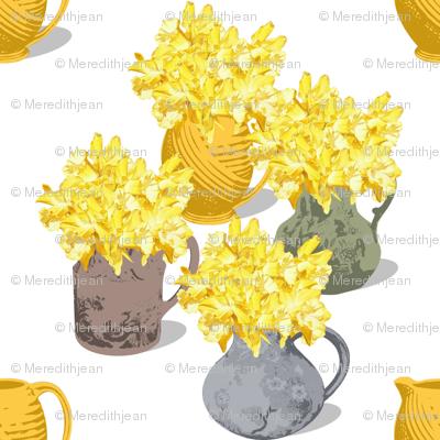 Jugs of Daffodils
