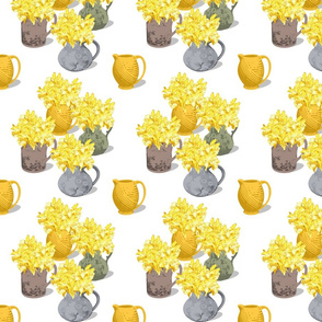 Jugs of Daffodils