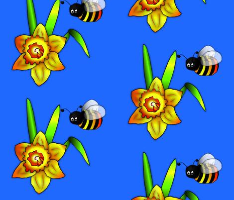 Happy daffodils! fabric by quistig on Spoonflower - custom fabric