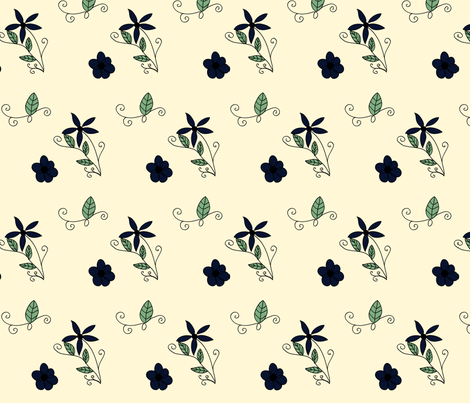 vintage floral design fabric by fleur_fleming on Spoonflower - custom fabric