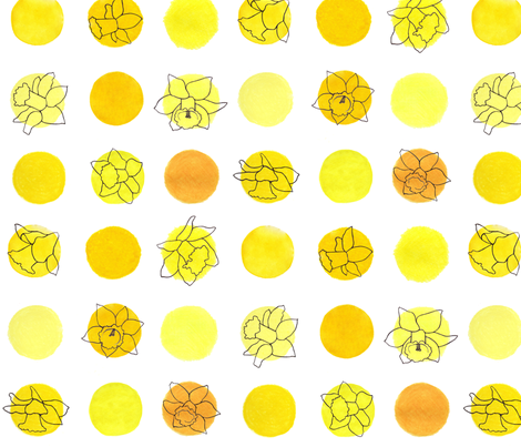 polka daffodils fabric by leonielovesyou on Spoonflower - custom fabric