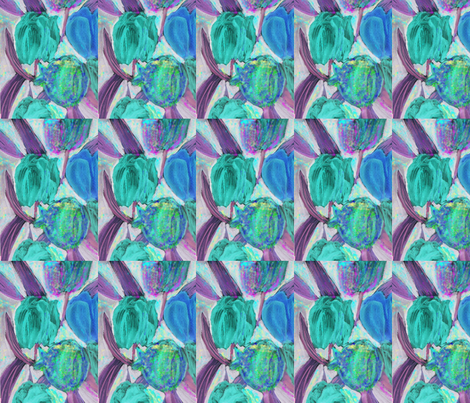 _-blue-Tulips fabric by jellybeanquilter on Spoonflower - custom fabric