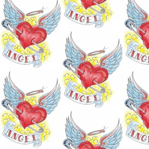 Tottoo Angel Heart