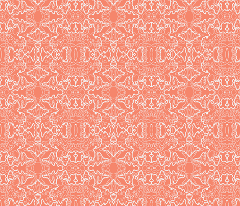 Marbelized Pink and White fabric by cricketnoel on Spoonflower - custom fabric