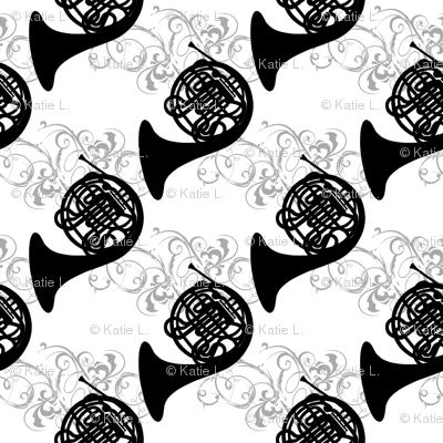 Ornate French Horns