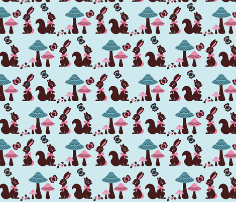Woodland  fabric by kipikapopo on Spoonflower - custom fabric