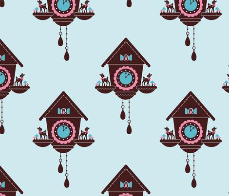 Cuckoo Clock fabric by kipikapopo on Spoonflower - custom fabric
