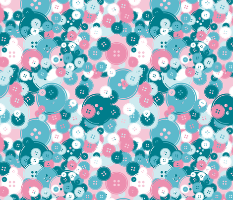 Buttons fabric by kipikapopo on Spoonflower - custom fabric