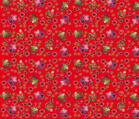 matriochcka red fabric by nadja_petremand on Spoonflower - custom fabric