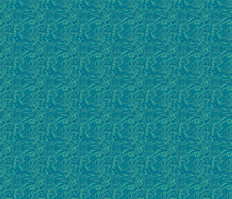 Tri-color Hatch (Aqua) fabric by leighr on Spoonflower - custom fabric