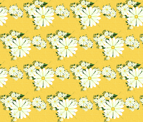Linen Daisies fabric by winter on Spoonflower - custom fabric