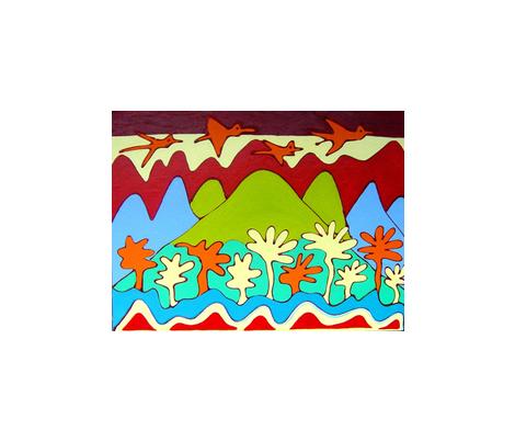 birds-ed fabric by bright on Spoonflower - custom fabric