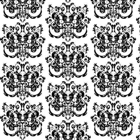 Crouching Tiger, Hidden Kitty fabric by 13blackcatsdesigns on Spoonflower - custom fabric