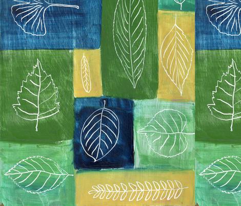 Leaf Symphony fabric by oneheartstudio on Spoonflower - custom fabric