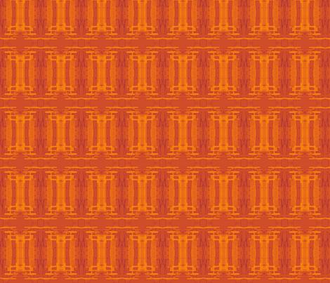 Orange Batik Columns fabric by wren_leyland on Spoonflower - custom fabric