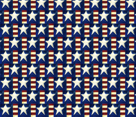 Americana Star and Stripes fabric by handwrittenlife on Spoonflower - custom fabric