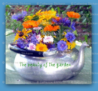 Teapot of Flowers