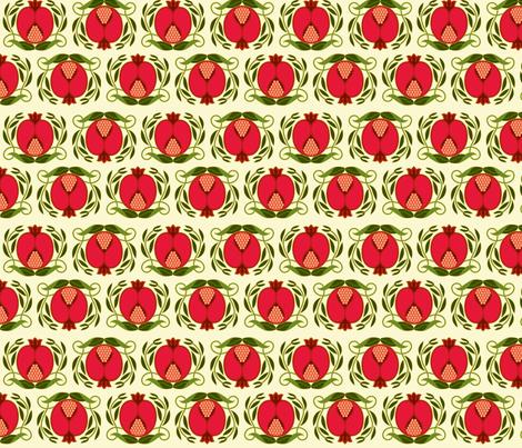 Pomegranate fabric by cindylindgren on Spoonflower - custom fabric