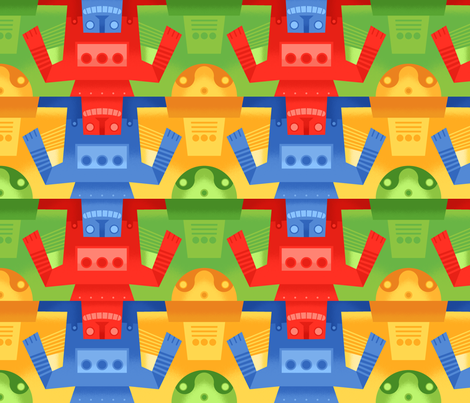 M.C. Robot fabric by artcafe on Spoonflower - custom fabric