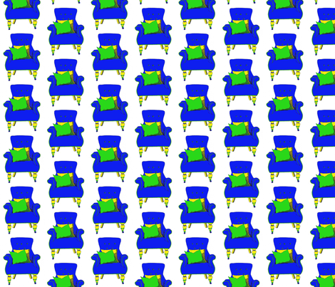 bluechair1sm fabric by twiddletails on Spoonflower - custom fabric