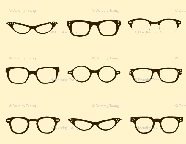 e95efd560f Retro Glasses Frames fabric - dorolimited - Spoonflower