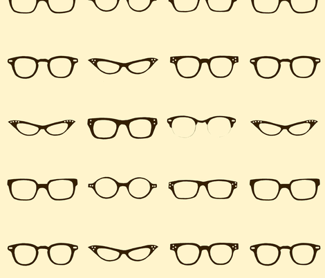 Retro Glasses Frames fabric by dorolimited on Spoonflower - custom fabric