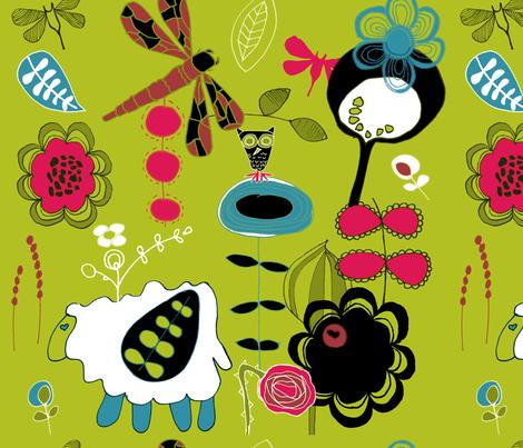 whimsicalgardens fabric by sbd on Spoonflower - custom fabric
