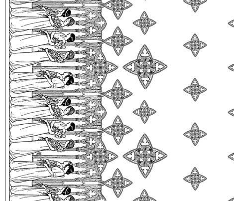 Maiden Border (light) fabric by ophelia on Spoonflower - custom fabric