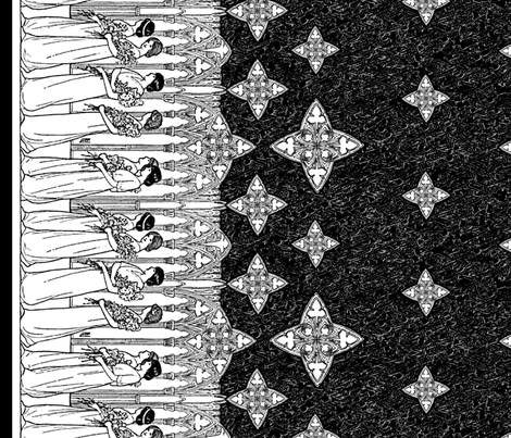 maiden-border_dark fabric by ophelia on Spoonflower - custom fabric
