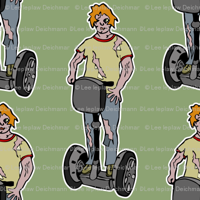 Zombie guy on segway