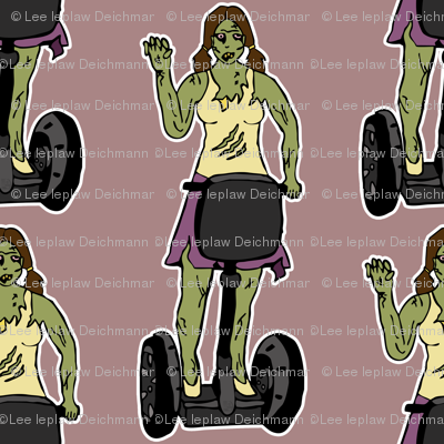 Zombie girl on segway