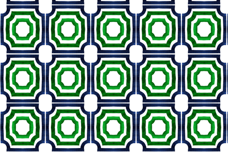C'EST LA VIV™ blu/emerald for West Palm Beach panels  fabric by cest_la_viv on Spoonflower - custom fabric