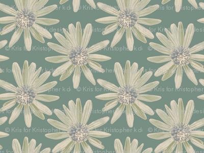 Daisy Garden - Green