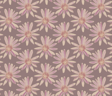 Daisy Garden - Plum fabric by kristopherk on Spoonflower - custom fabric