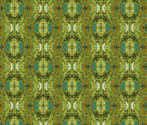 Verdant Reflections fabric by karendel on Spoonflower - custom fabric