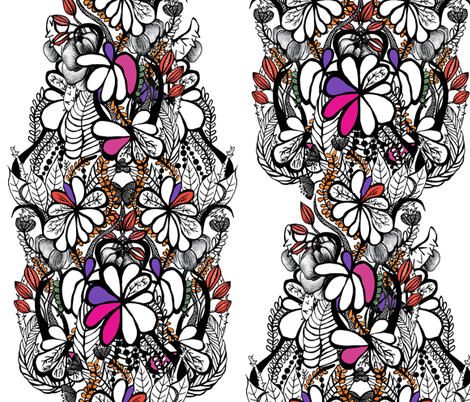 Floral Entwine fabric by danyelldesigns on Spoonflower - custom fabric