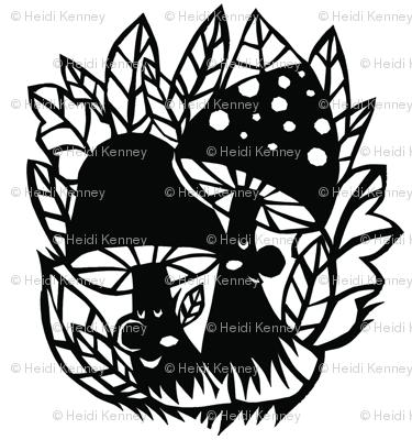 mushroom silhouette