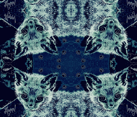 DENIM KITTY fabric by paragonstudios on Spoonflower - custom fabric