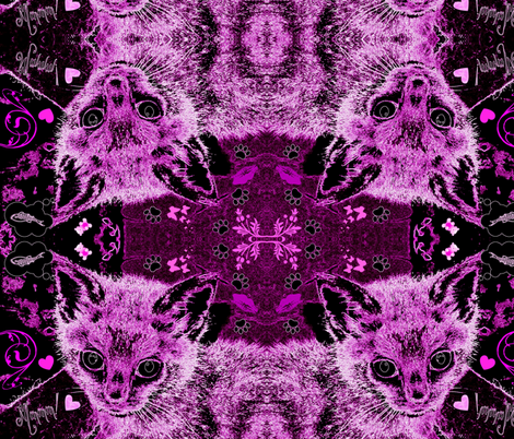 PINK KITTY fabric by paragonstudios on Spoonflower - custom fabric