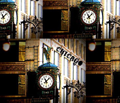 CHICAGO TIME fabric by paragonstudios on Spoonflower - custom fabric