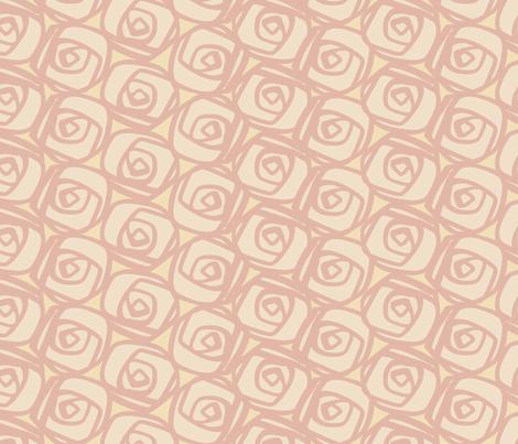 Pink Rose Garden fabric by bunni on Spoonflower - custom fabric