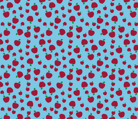 Red Apples fabric by flis on Spoonflower - custom fabric