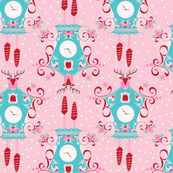 Cuckoo clocks in Pink
