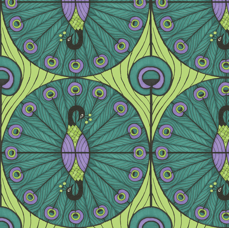 Peacock Dot fabric by ceanirminger on Spoonflower - custom fabric