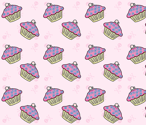 Pocket Full of Posiez Deadly Sweet Cupcakes fabric by pocketfullofposiez on Spoonflower - custom fabric