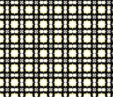 Type Tile Yellow fabric by flis on Spoonflower - custom fabric