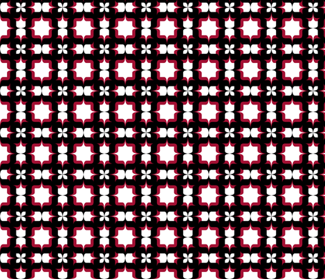 Type Tile Red fabric by flis on Spoonflower - custom fabric