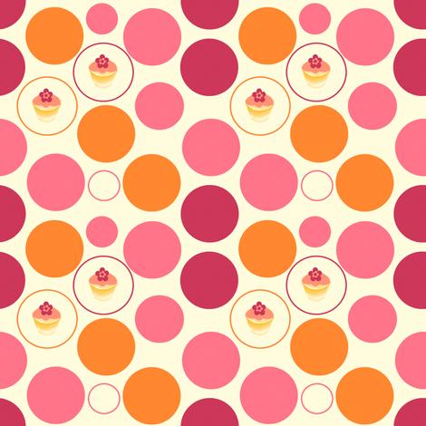 Tropical Dots & Cuppycakes! -  © PinkSodaPop 4ComputerHeaven.com fabric by pinksodapop on Spoonflower - custom fabric